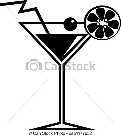 Clip Art of cocktail.