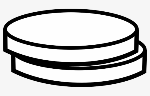 Free Coin Black And White Clip Art with No Background.