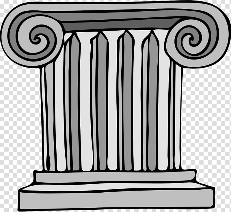Column Structure, Ancient Roman Architecture, Doric Order.