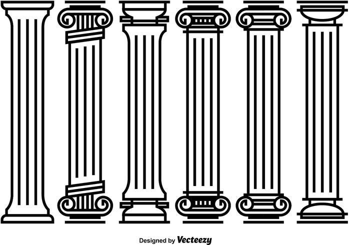 Decorative Roman Pillar Vectors.