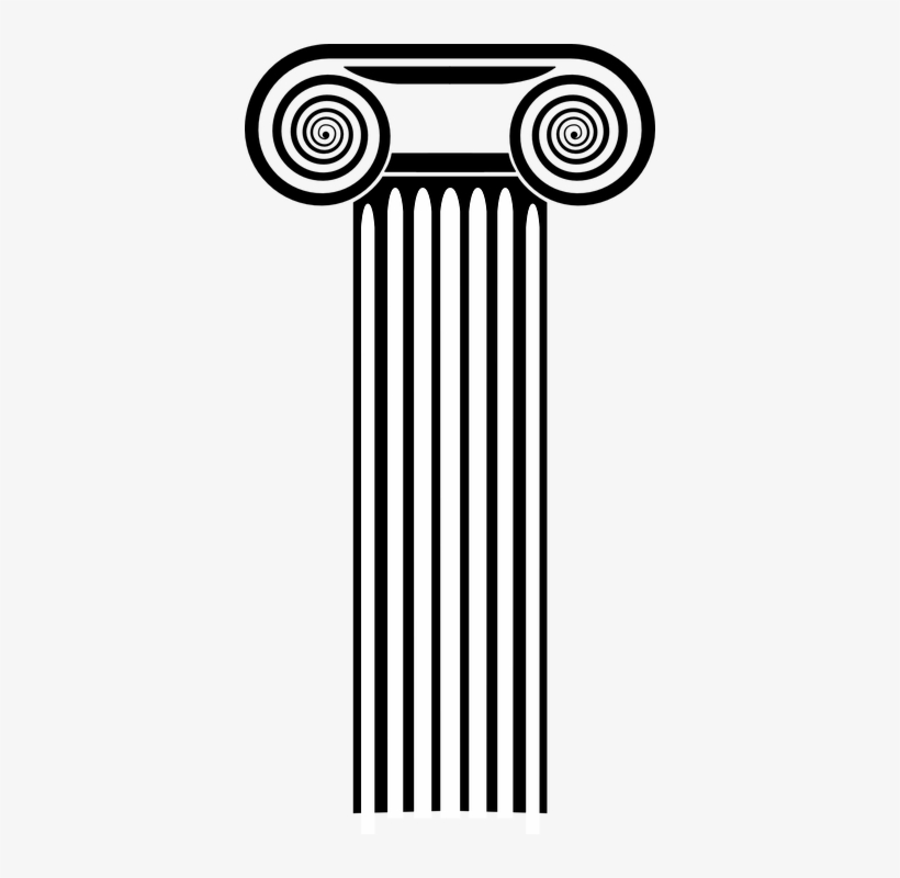 Columns Clipart Black And White.