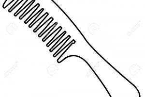 Comb clipart black and white 1 » Clipart Station.