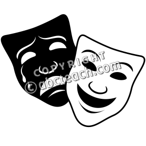 68 Drama Masks free clipart.