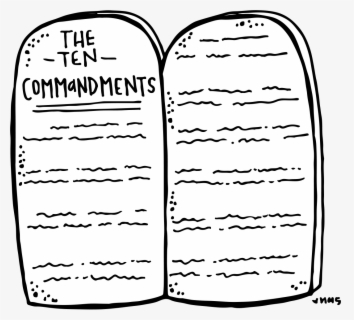Free Ten Commandments Clip Art with No Background.