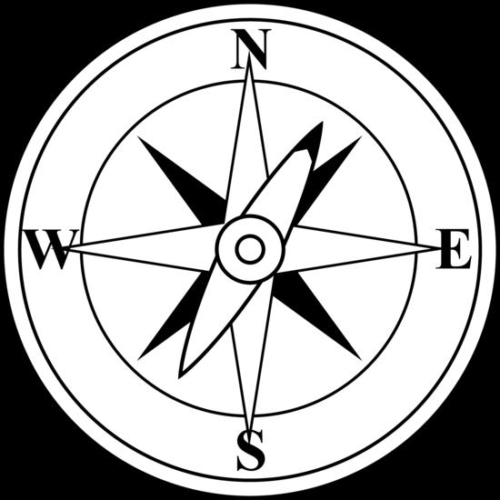 Compass Clip Art Black White.