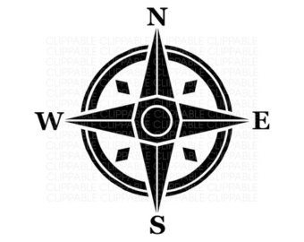 Similiar Black And White Clip Art Compass Rose Keywords.