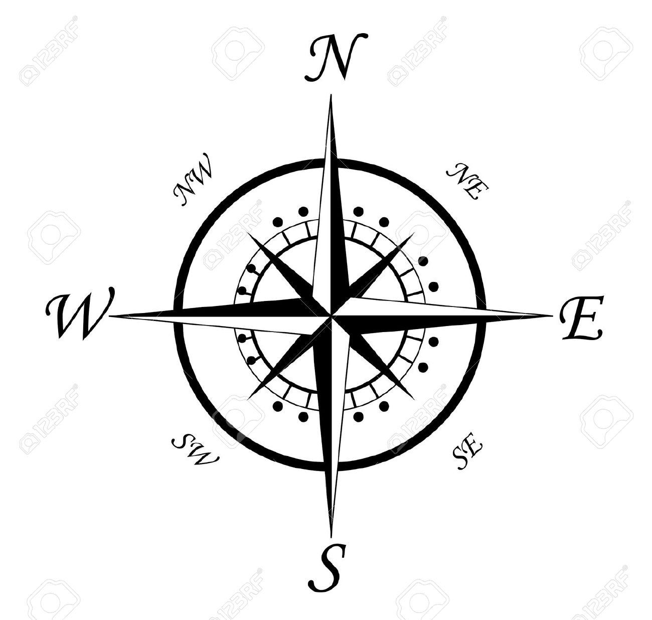 black and white compass clipart clipground. Black Bedroom Furniture Sets. Home Design Ideas