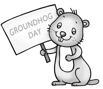 Groundhog Clipart Black And White.