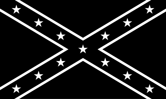 Free Black And White Rebel Flag Image Clipart.