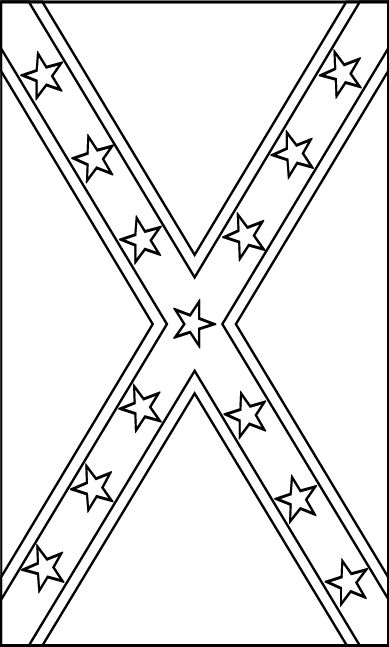 black and white confederate flag clipart #3