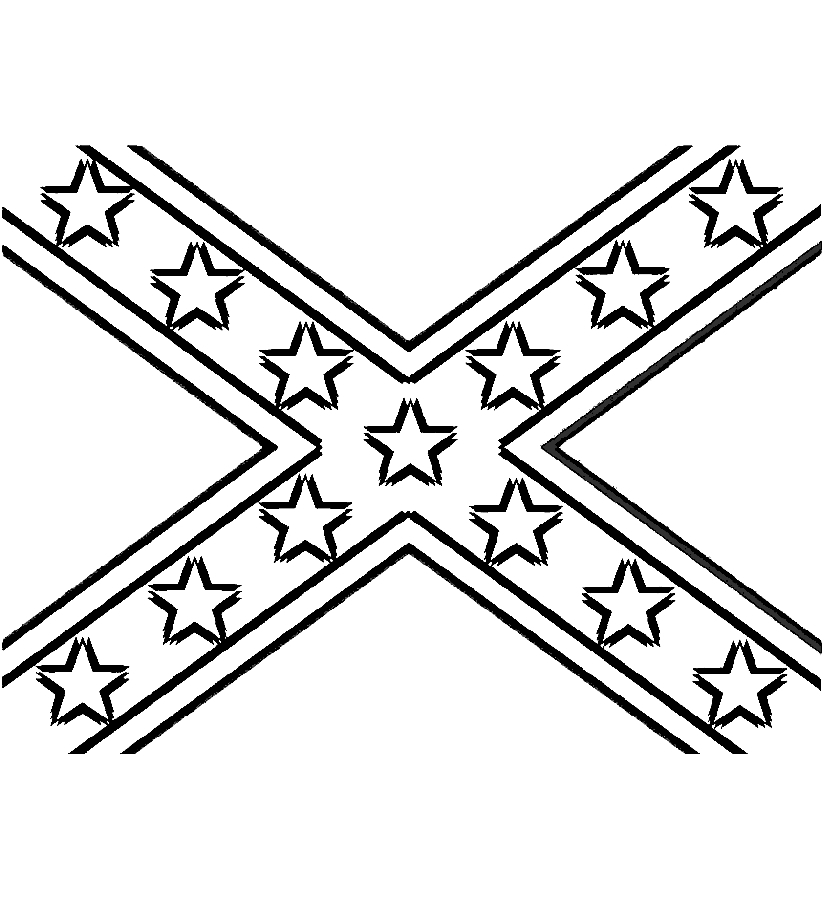 Black And White Confederate Flag Clipart.