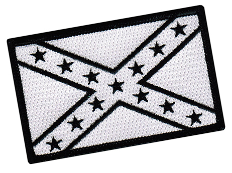 black and white confederate flag clipart #2