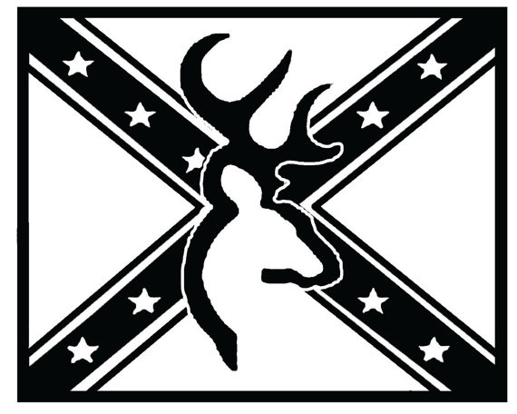 black and white confederate flag clipart #16