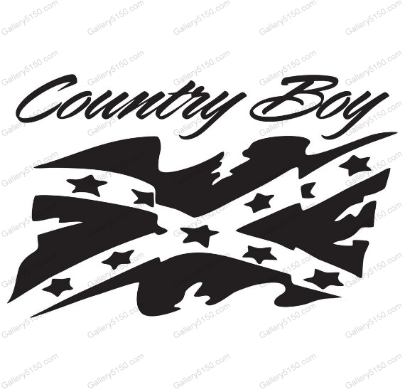 Country Boy, Rebel Flag, Battle Flag, Confederate Flag #decal.