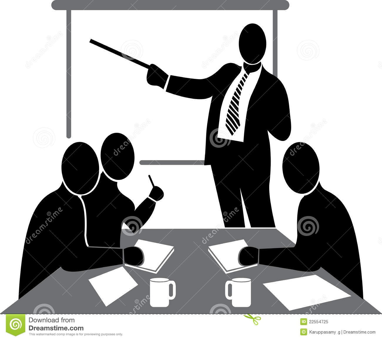 Business Meeting Clipart Black And White.