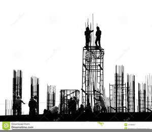 Black And White Construction Worker Clipart.