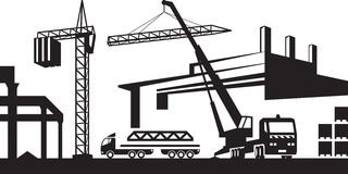 Construction Site Clipart Black And White.