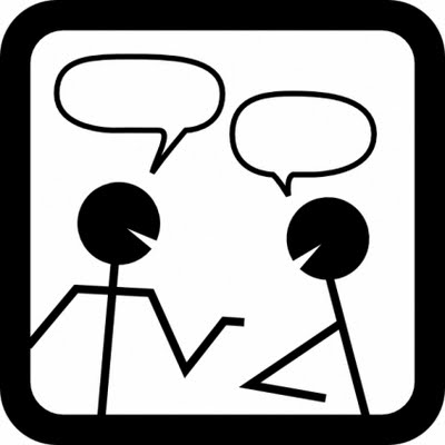 Conversation Clipart Black And White.