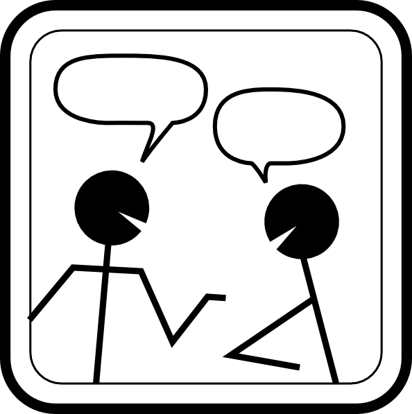 Free Conversation Clipart Black And White, Download Free.