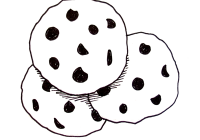 Cookie Clipart Black And White Cookies C #626346.