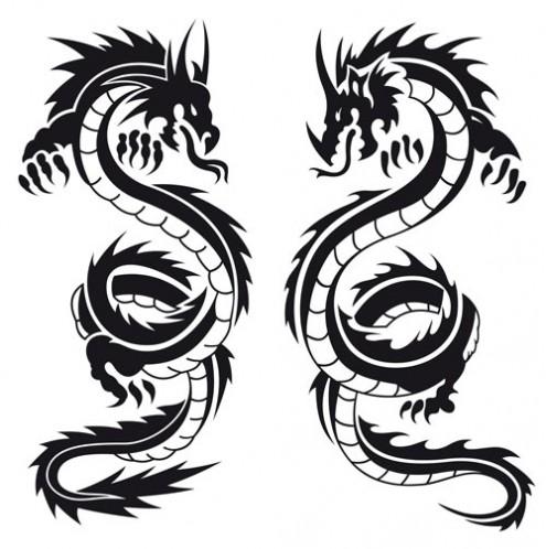 Free Dragon Black And White, Download Free Clip Art, Free.