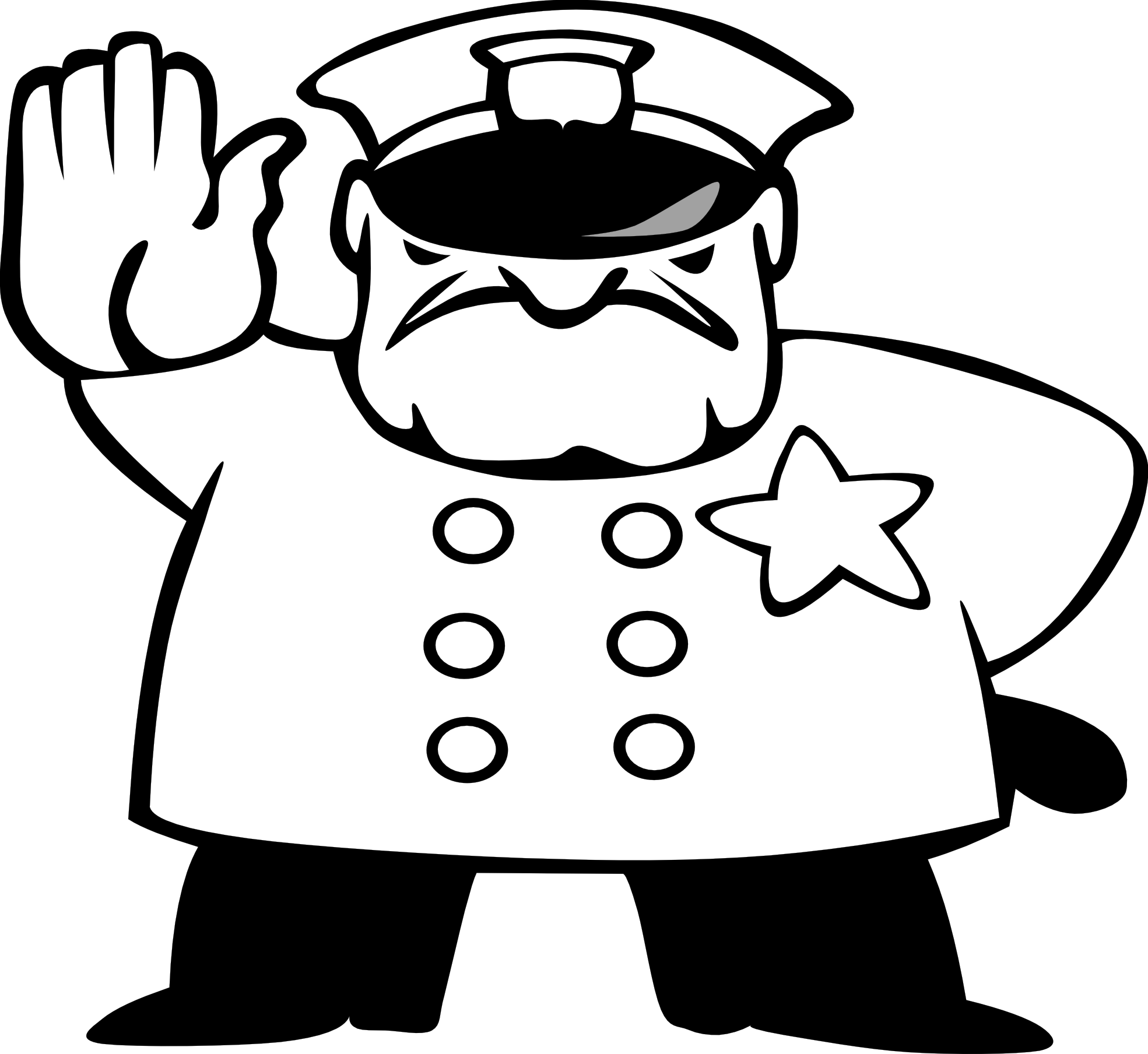 Cop clipart black and white 4 » Clipart Station.
