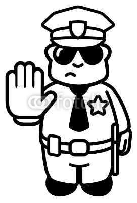 Policeman Clipart Black And White.