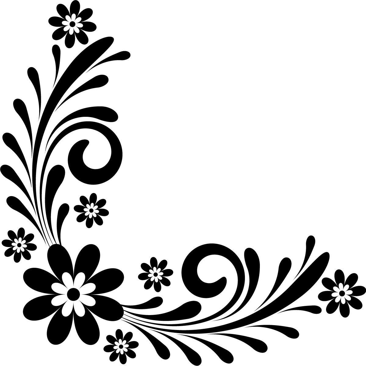 Black And White Corner Design.