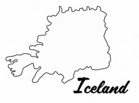 Countries of the World Black White Outline Map Clip Art.