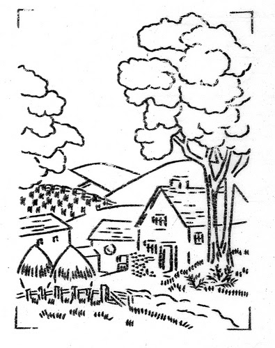 Countryside clipart black and white 2 » Clipart Station.