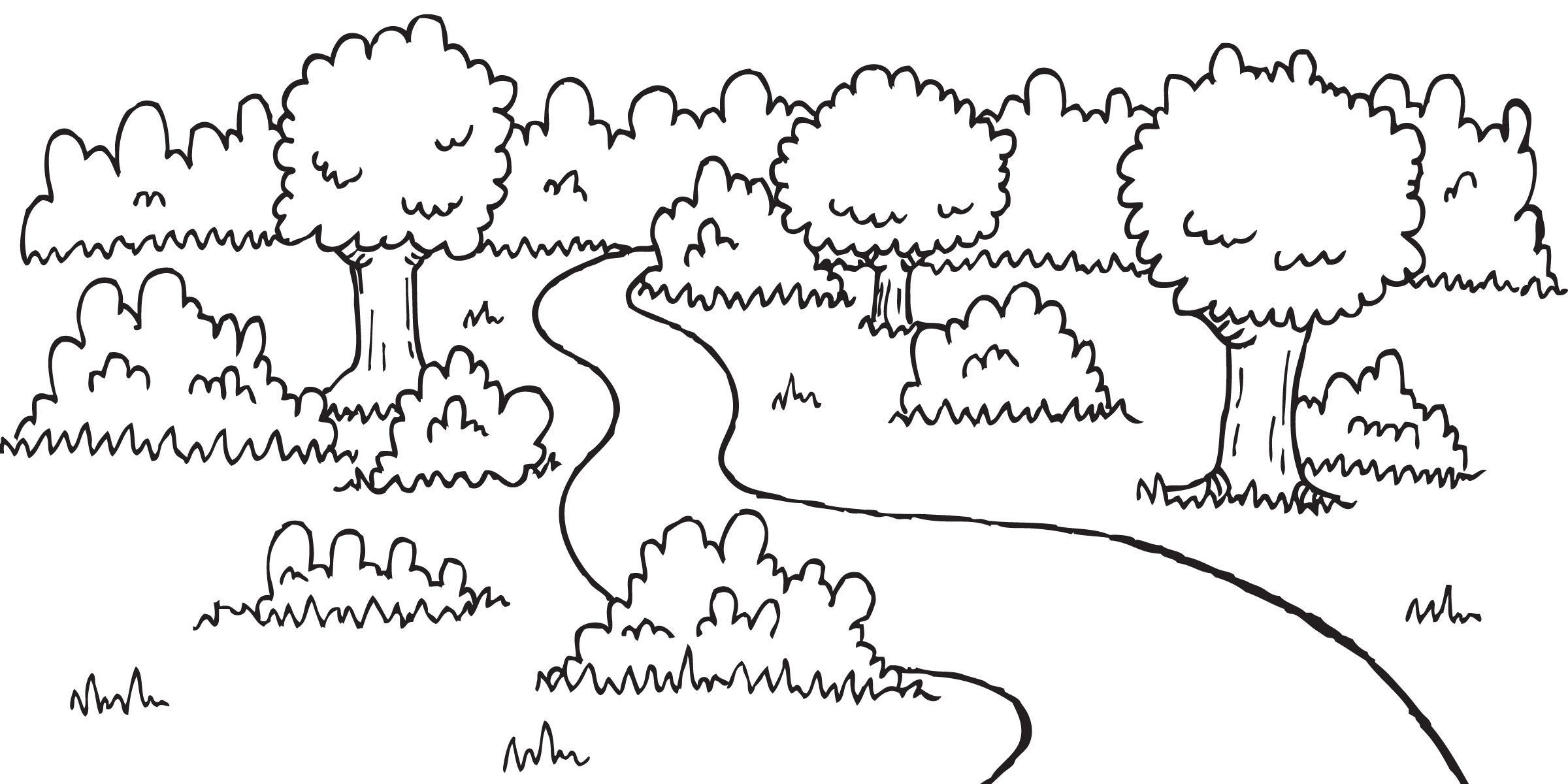 Country Clipart Black And White.