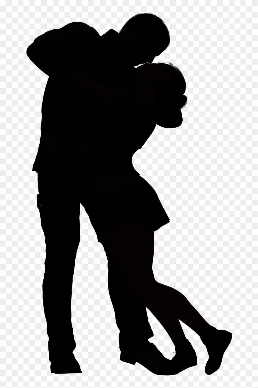Black And White Shadow Couple Clipart (#879469).
