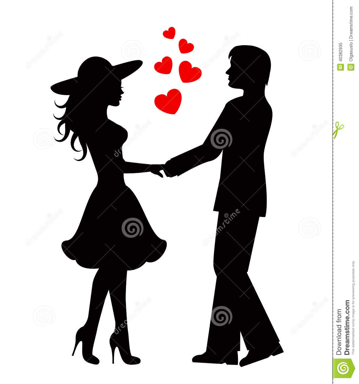 Love Couple Clipart Black And White.