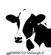 Black And White Cow Clip Art.