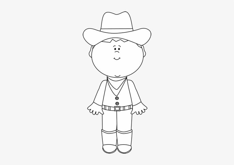 Black And White Cowboy.