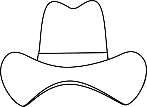 Black and White Simple Cowboy Hat.