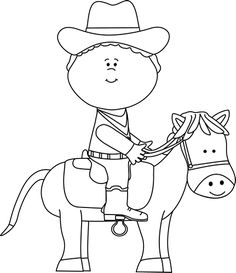 Cowgirl clipart black and white » Clipart Station.