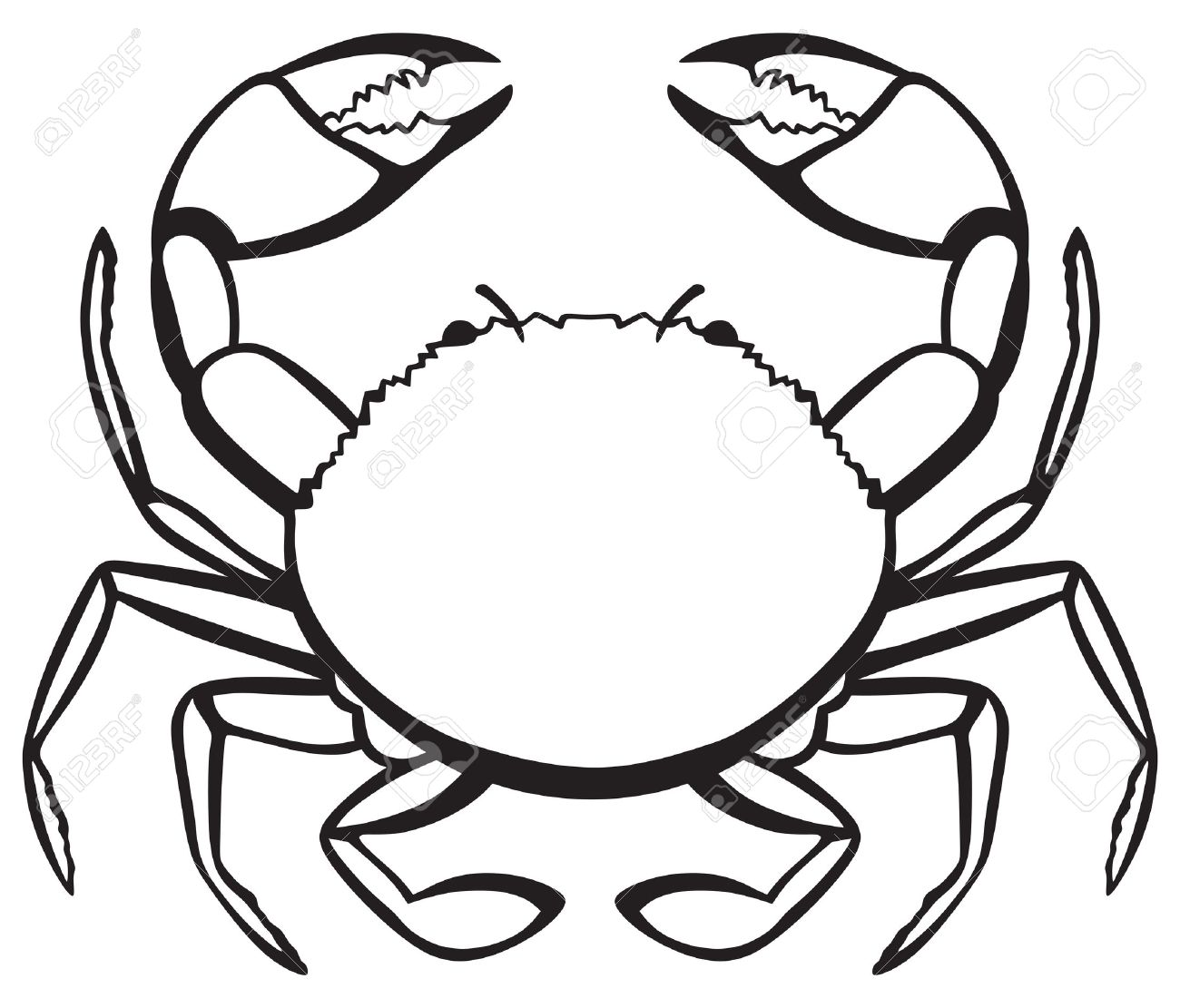 Crab clipart black and white 7 » Clipart Station.