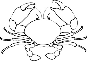 Crab clipart black and white free clipart images 2 clipartix.