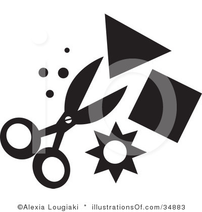 Free Craft Clipart Black and White.