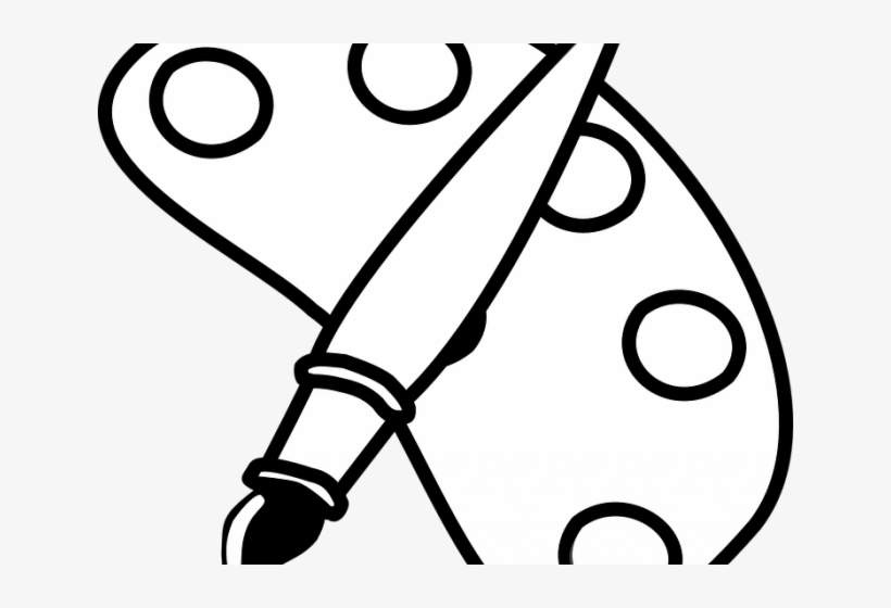 Paint Brush Clipart Black And White.