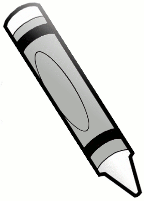Crayon Clip Art Black And White.