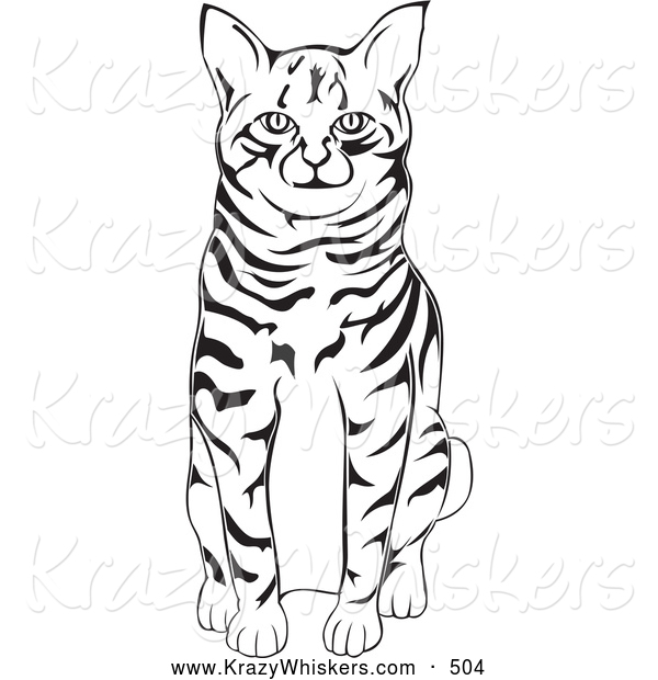 Critter Clipart of a Friendly Black and White American.