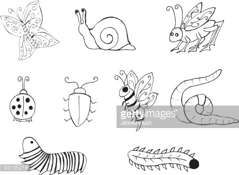 Black and white clipart critters in woods Transparent.