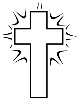 316x400 Cross Clipart Black And White.