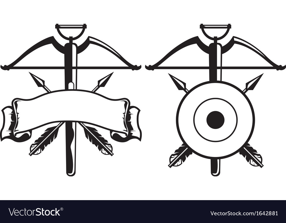 Insignia with crossbow.