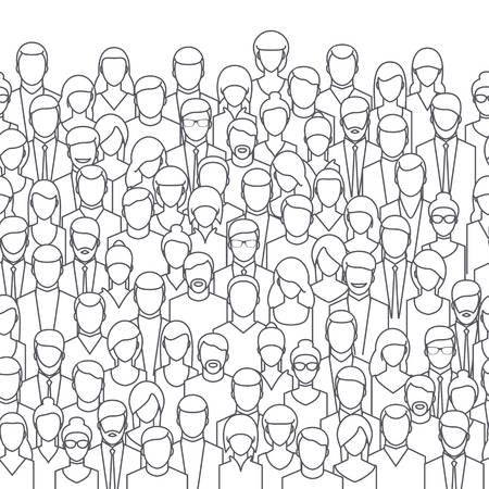 Crowd clipart black and white, Crowd black and white.