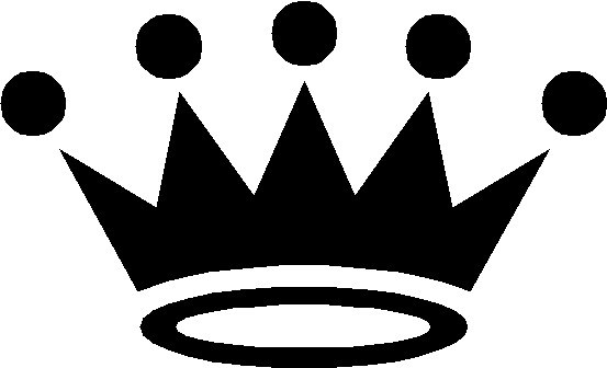 Black and white crown clipart 1 » Clipart Portal.