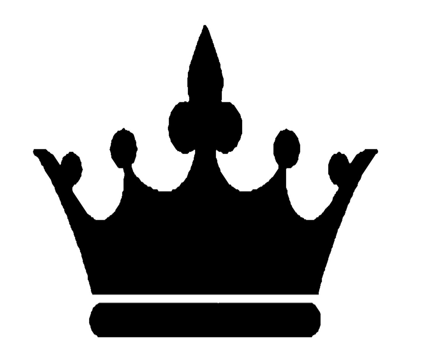 King crown clip art black and white.