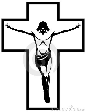 Crucifix Clipart Black And White.